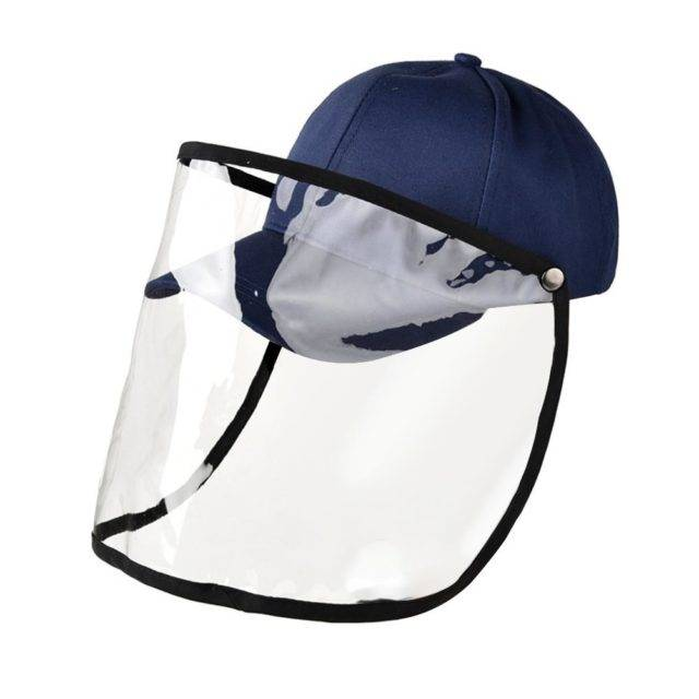 Factory Price! Transparent Windproof And Waterproof Baseball Cap Full-face Protective Hat Men Women Detachable Dual-use Caps